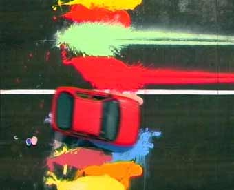 Automotive Action Painting